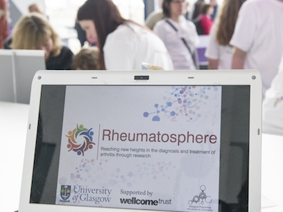 Photograph of the crowd at the Rheumatosphere 2013 event at the Glasgow Science Centre