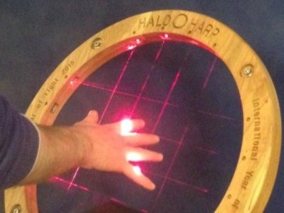 Image of someone using the Halo Harp.