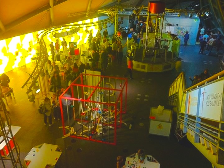 Photograph of Glasgow Science Centre filled with Explorathon 2014 visitors